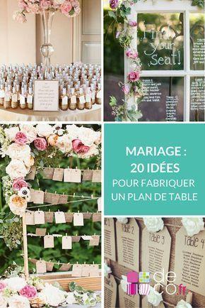 Faites le plein d'idées pour une déco de mariage au top ! Surprenez vos invités avec un plan de table original et home made.  http://www.deco.fr/photos/diaporama-diy-mariage-30-idees-plan-table-d_3638