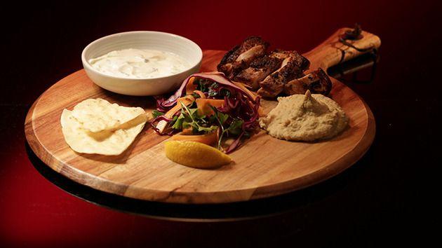 MKR Recipes - Chicken Shawarma with Hummus and Flatbread  - Yahoo7
