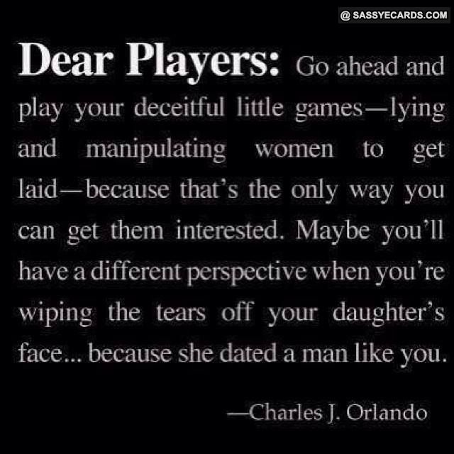 how to handle a man who plays games