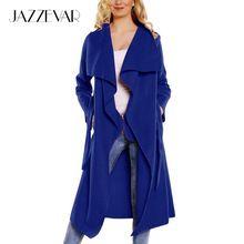 JAZZEVAR 2016 новая весна мода/Вскользь женщин полушерстяные Плащ длиной Верхняя Одежда свободная одежда для леди хорошим качество(China (Mainland))