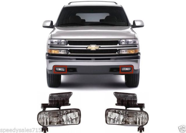 Replacement Clear Fog Lights 1999 2002 Silverado 2000 2006 Tahoe Suburban New Silverado Parts Silverado Accessories Chevy 1500