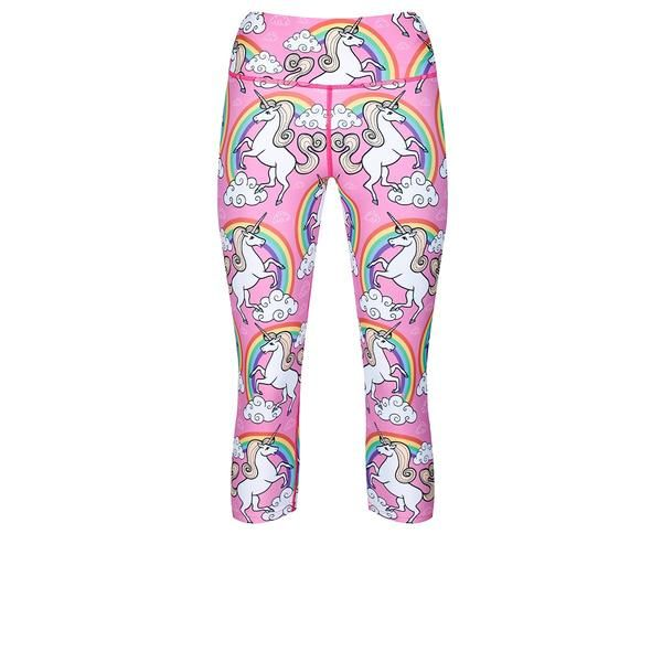 Tikiboo Rainbow & Unicorns Capri #Activewear #Gymwear #FitnessLeggings #Leggings #Tikiboo #RainbowPrint #Running #Yoga