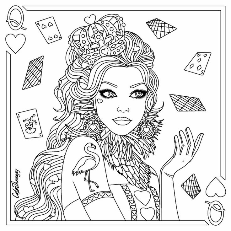 889 best Beautiful Women Coloring Pages for Adults images ...