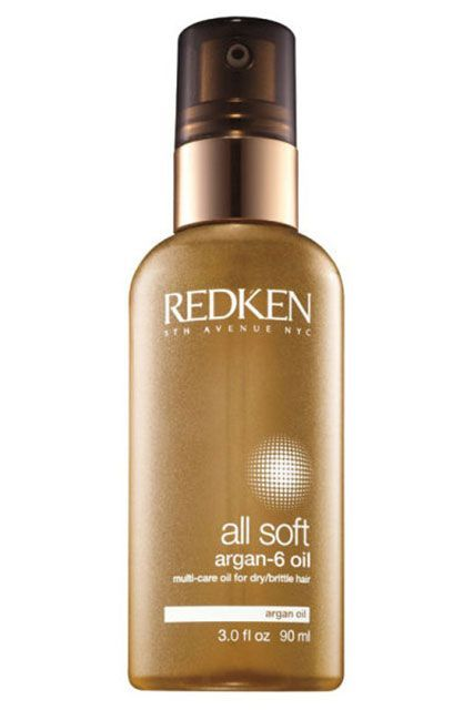 Redken's luxe hair oil will give you silky-soft strands without weighing them down. Use it on damp hair to protect from heat, or after you dry it for added shine.  Redken All Soft Argan-6 Hair Oil for Dry Hair, $30, available at Ulta.