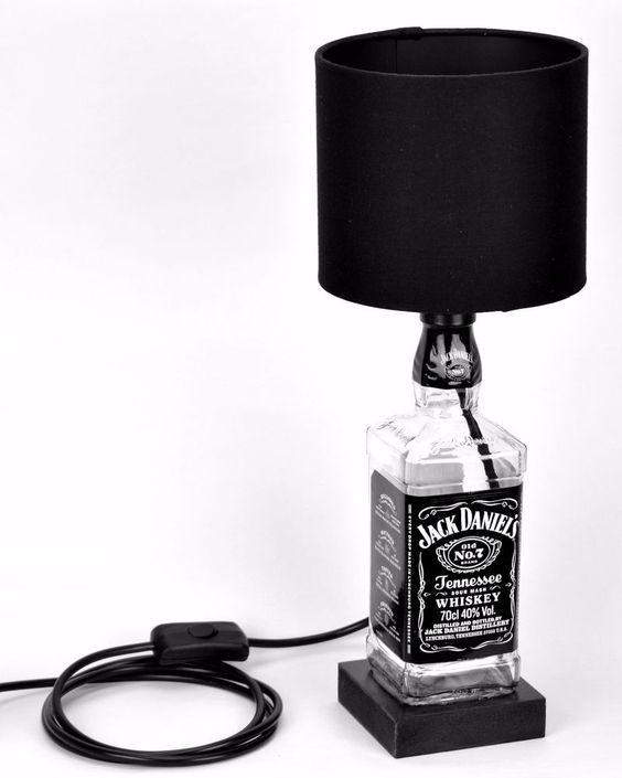 Exceptional DIY Man Cave Lighting Ideas: Jack Danielu0027s Whiskey Bottle Lamps