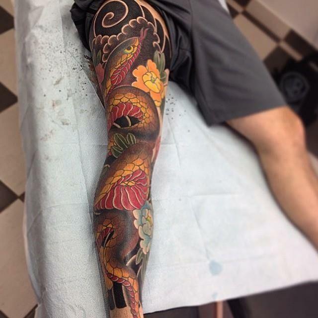 3Hƒ0® #Jtatts | Leg Tattoo