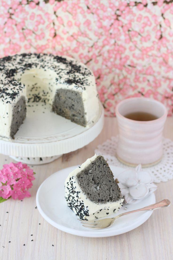 Angel Cake au sésame noir
