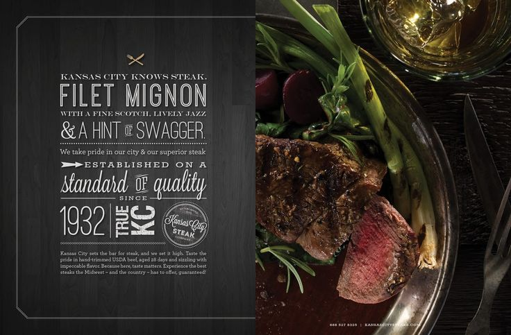 Kansas City Steak Co.  - catalog design by J.Schmid