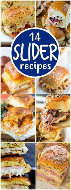 EASY Slider Recipes are the perfect food for game day appetizers or an easy dinner!