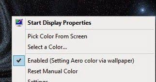 Το AeroBlend είναι μία μικρή απλή εφαρμογή που αλλάζει αυτόματα το χρώμα των Windows για να ταιριάζει με την τρέχουσα ταπετσαρία. Πολύ χρήσιμο ώστε να καθορίζετε εσείς κάθε φορά το χρώμα των παραθύρων και του desctop. Αφού τρέξετε το πρόγραμμα το εικονίδιο της εφαρμογής θα εγκατασταθεί κάτω δεξιά στη μπάρα εργασίας των windows. Κάντε κλικ με το δεξί πλήκτρο στο ποντίκι σας και πατήστε στην επιλογή select a color. Από εκεί και μετά διαλέξτε το χρώμα που ταιριάζει με την φωτό στο desctop σας…