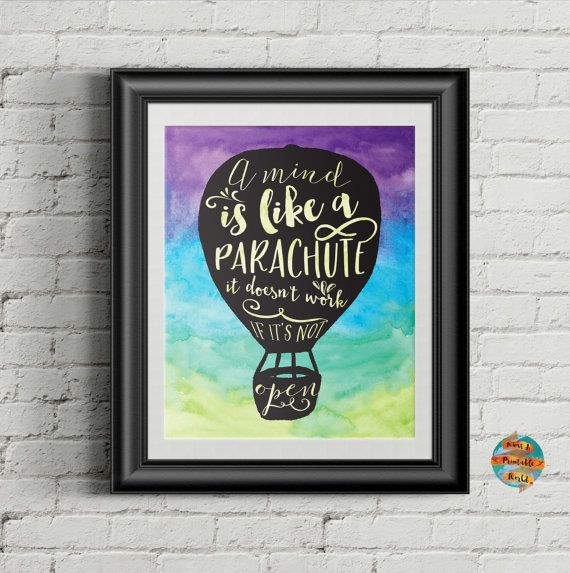 A mind is like a parachute Frank Zappa quote inspirational