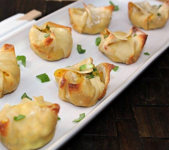 Healthy Baked Crab Rangoon - ONLY 41 CALORIES EACH! Holy moly!  -- I'm going to try this in the Airfryer!