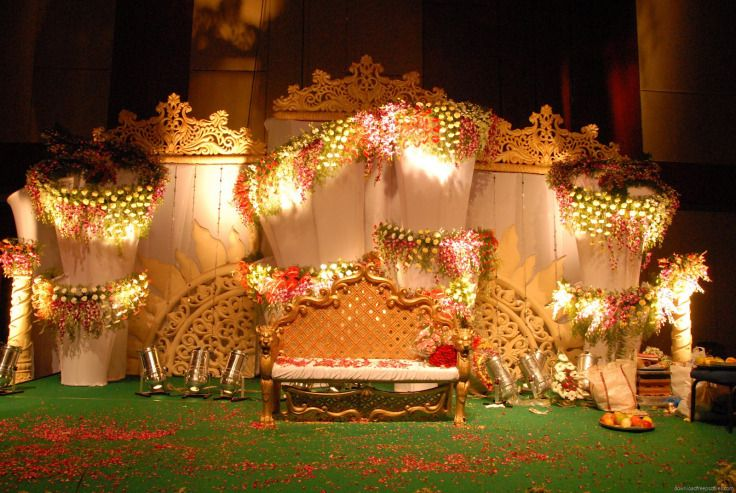 Outdoor Simple Wedding Stage: Indian Wedding Stage   Decorations Pics  #BookingEvents #Indian #Wedding #Stage #Decoration
