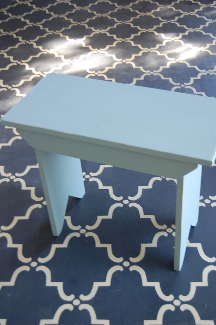 Cement floor painted with Chalk Paint® decorative paint by Annie Sloan!