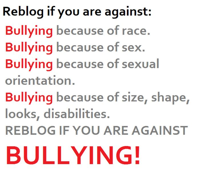 Against #bullying! From downtownn via tumblr