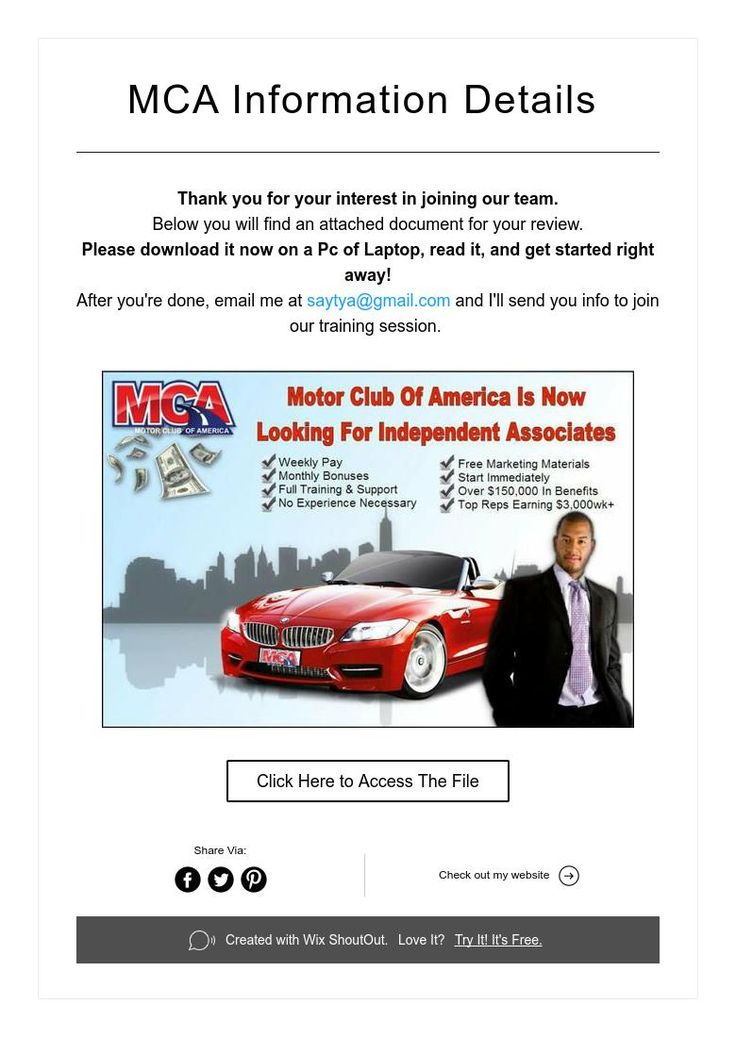 MCA Information Details Aaa services, Join our team