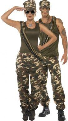 Disfraz de pareja militar