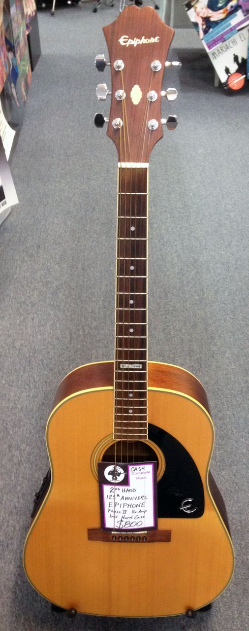 second hand epiphone acoustic guitar 125 anniversary model second hand instruments epiphone. Black Bedroom Furniture Sets. Home Design Ideas
