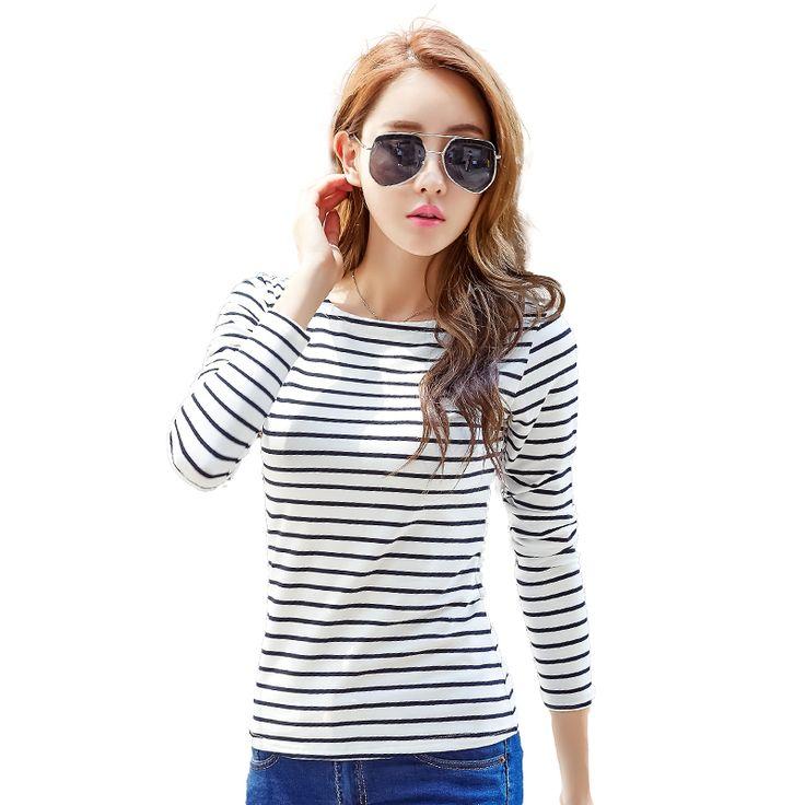 Treroninae Spring new 2017 Long sleeve undershirt women tops sexy female cotton t-shirt slash neck plus size casual tee shirts