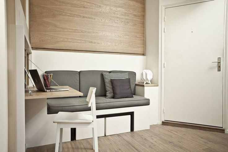 Maximális helykihasználás, többfunkciós bútorok - egy 18m2-es mini lakás berendezése