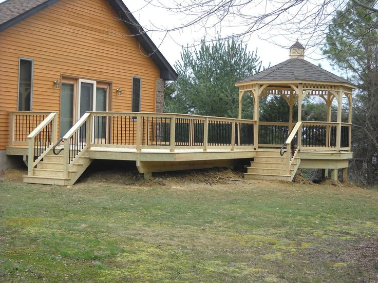 Check out this fantastic deck in Lancaster PA! Not only were we able to create a safe, sturdy custom deck using high-quality materials, but our professionals also built a gazebo -- perfect for entertaining and enjoying the outdoors with friends and family. Want to learn more? Reach out to Decks R Us for a free consultation!