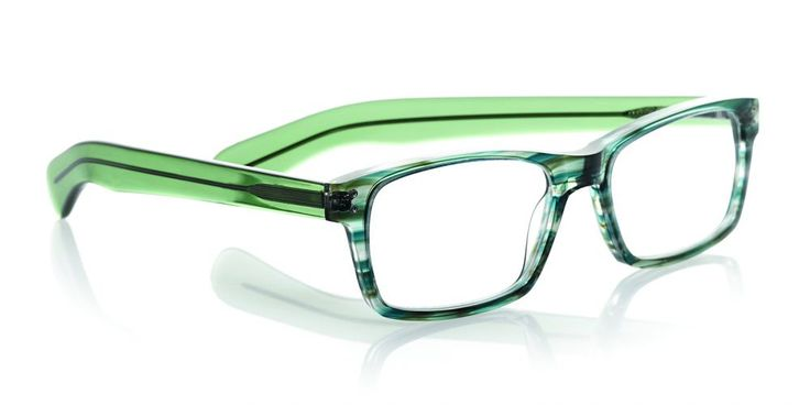 eyebobs' Roy D reading glasses have enough heft to balance out a soft, round face shape.