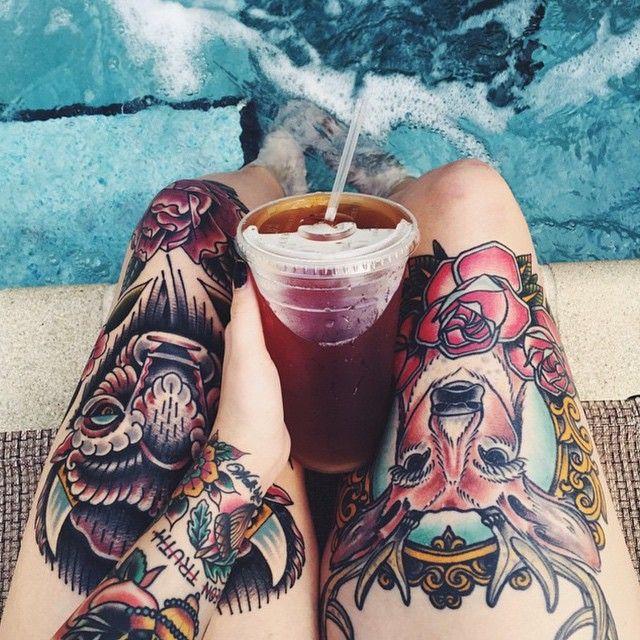As garotas daqui deviam ter mais atitudes assim, de tatuar seu corpo,, como elas ficam lindas no olhar de outras pessoas vei ❤❤❤ #TeuCrush @MeeErree   #Garota #Tatuada   #Arms #Legs #Beauty #Tattooed #Cute #Pretty #Girl #Tumblr #Tattoo #Inked #Ink #Tatuagens