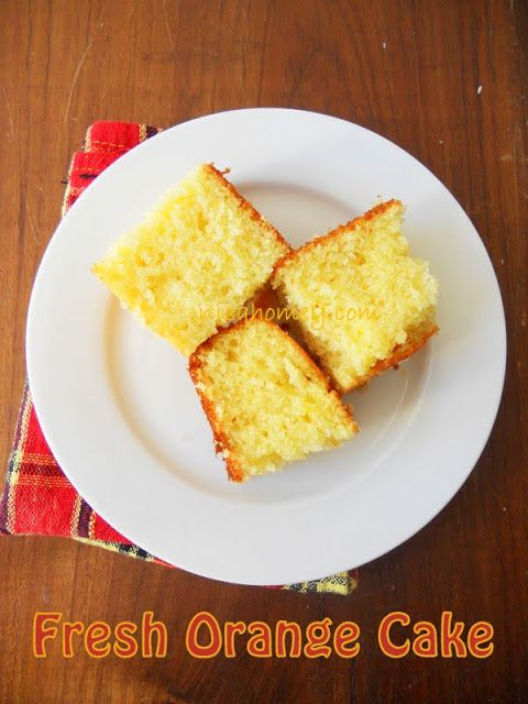 Fuzzy Navel Cake From Scratch