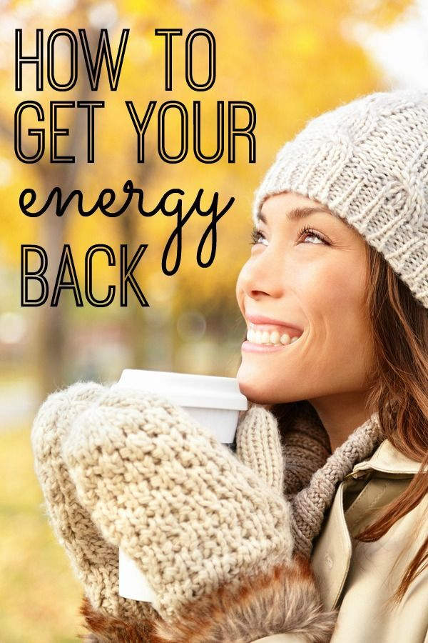 Feeling tired? Sluggish? Foggy? Here are some great tips on how to get your energy back! Most of these were brand new to me - very excited to try them!