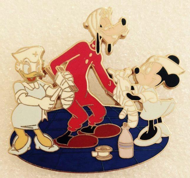Disney Pin Pics 54021 Nurses Day 2007 Minnie Goofy Daisy No Card Le 250 VHTF | eBay