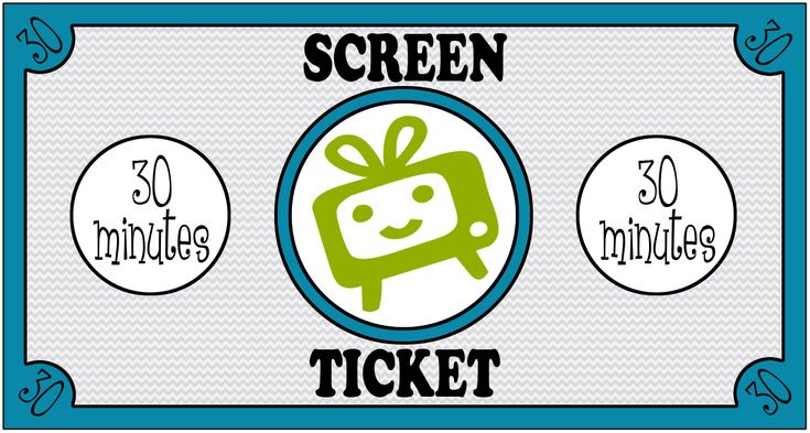 Screen Tickets. Fantastic for making children think more about their screen time and to learn about budgeting.