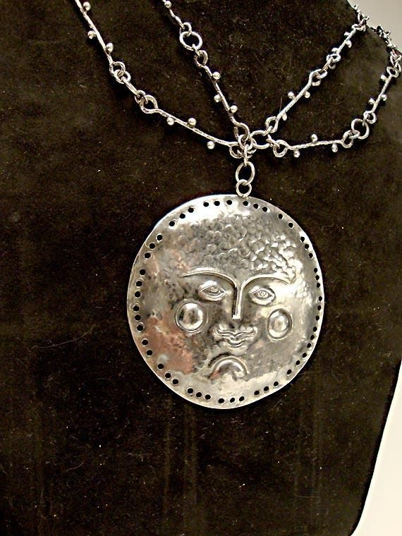 The 33 best mexican silver jewelry images on pinterest silver mid century mexican silver pendant and chain mozeypictures Choice Image