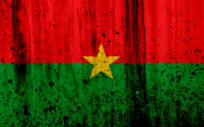 Download wallpapers Burkina Faso flag, 4k, grunge, flag of Burkina Faso, Africa, Burkina Faso, national symbols, Burkina Faso national flag