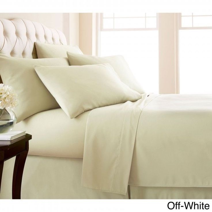 Queen 6-piece Sheet Set Extra Deep Pocket Flat Fitted  Pillowcase Bright White #Southshore #Contemporary