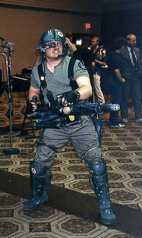 """Me as a US Colonial Marines Smartgun operator from the 1987 movie """"Aliens."""""""