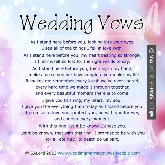 Best Wedding Vows: 19 Best Wedding Script Ideas Images On Pinterest