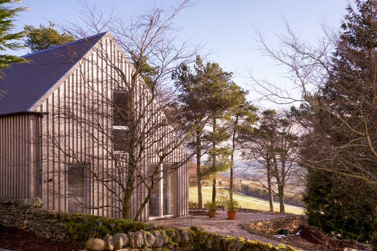 Architect designed holiday house in the Pentland Hills Regional Park near Edinburgh. Westside Woodshed build using CLT timber, clad in Kebony. Architect: Roxburgh McEwan  Modern Architecture Scotland, Nominated for a Saltire Architecture Award