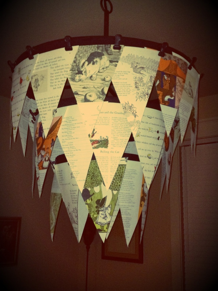 book page chandelier