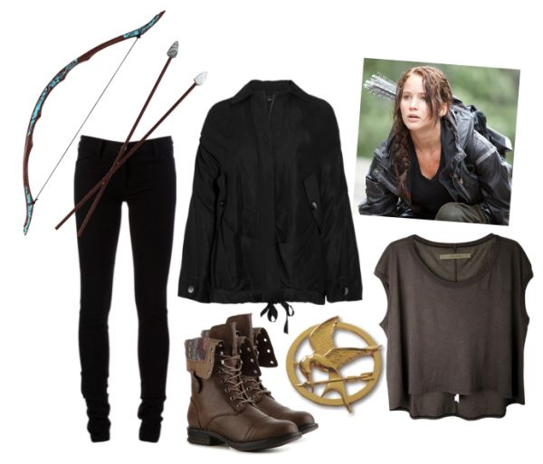 Katniss Everdeem from the Hunger Games Halloween Costume Idea