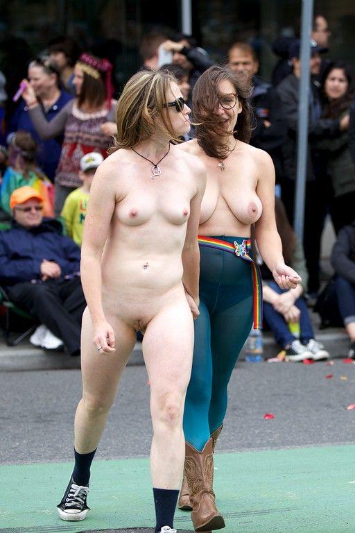 Think, Public nude ina parade