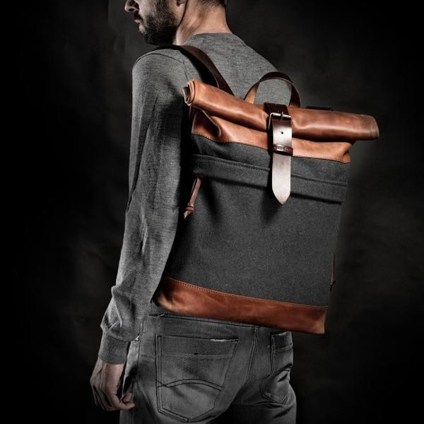 1970's Backpack (Orange/Grey) #backpack #bag #handcrafted #handmade #hipster #crossroad #style #fashion #unique #limited #accessory #overcoat #wool #army