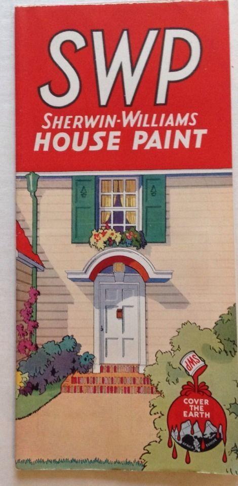 details about vintage sherwin williams paint brochure 1934. Black Bedroom Furniture Sets. Home Design Ideas