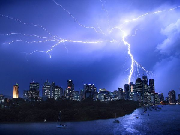 a typical summer Brisbane storm.