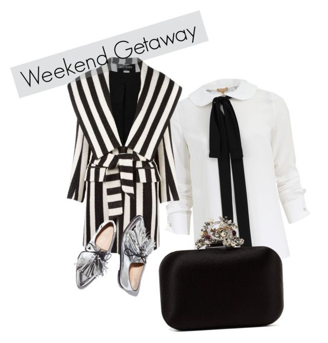 b&w by lucy-mayday on Polyvore featuring moda, Michael Kors, Balmain, Jimmy Choo and Loeffler Randall