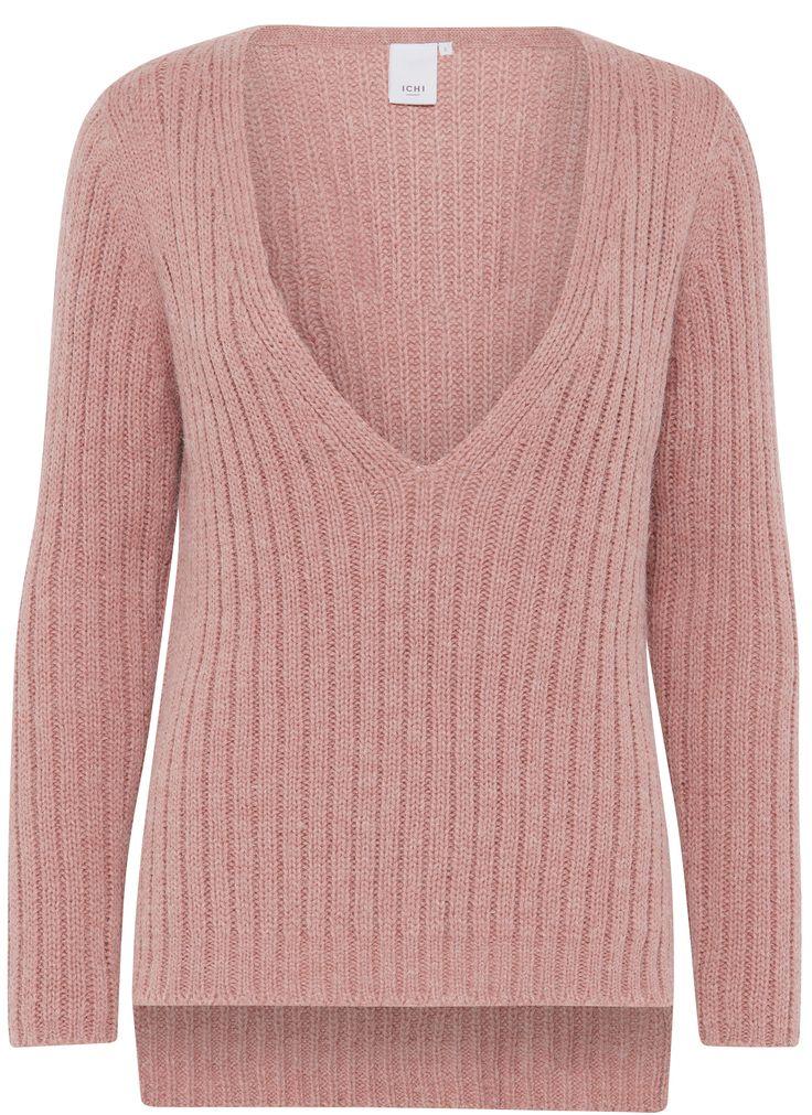 ICHI Anuk Knit Danish Pink Scandinavian knitwear jumper sweater layering for autumn winter fall