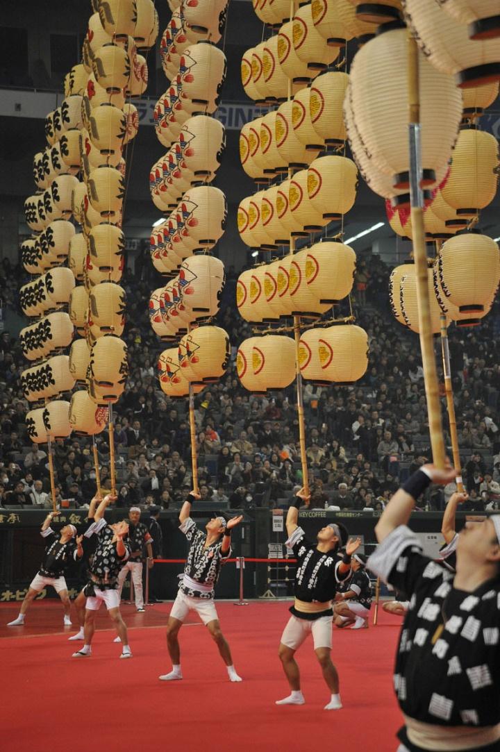 Akita Kanto Furusato Matsuri, lantern balancing contest