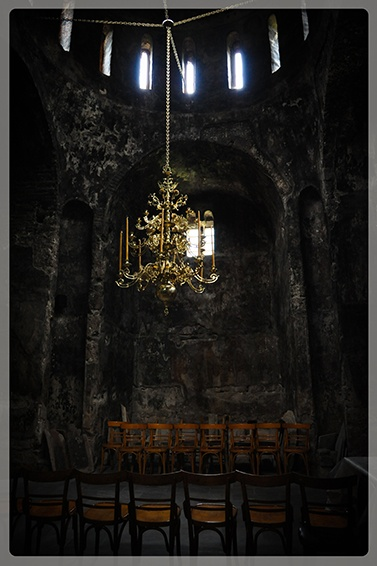 The inside of the Porta Panagia church, built in 1283 in the village Pili.