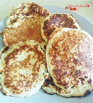 Pancake au son d'avoine et banane