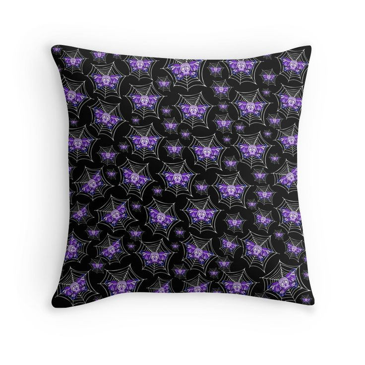 Sugar Skull Butterflies Throw Pillow.  Artwork by Toni Lee from http://www.tearingcookie.com Designed by Mannzie