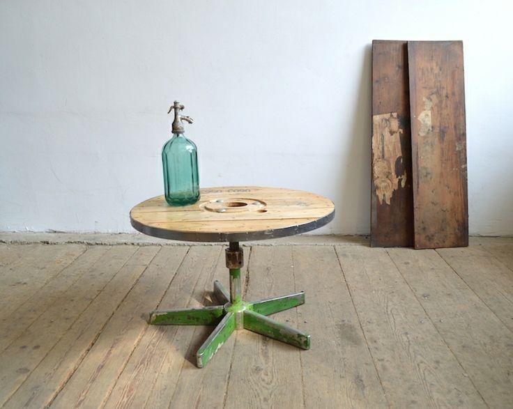 Drum-wheel table- artKRAFT - Furniture&Design